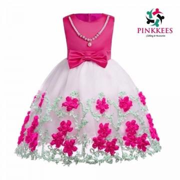 Two Tone Fushia Pink Dress