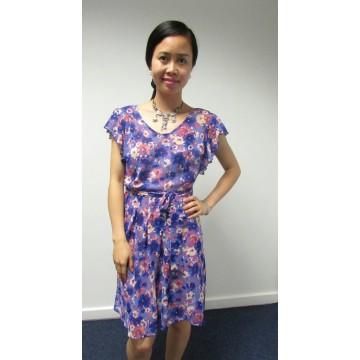 George Floral Chiffon Dress