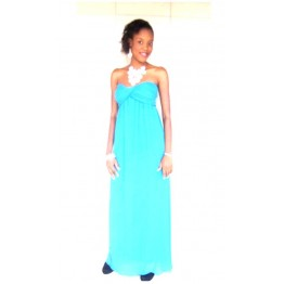 Dorothy Perkins Alice & You Turquoise ruched bandeau maxi