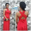 Red Multiway Convertible Maxi Dress