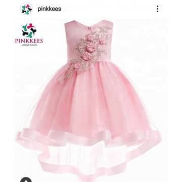 Pale Pink High-Low Dress