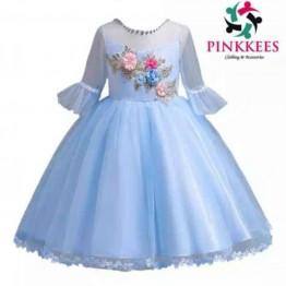 Elohor Embellished Mesh Dress -*Sky Blue*