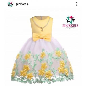 Two Tone Yellow Dress