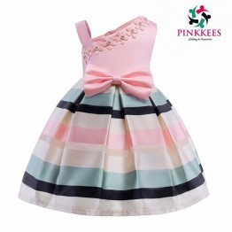 Light Pink Multicolor Stripe Dress