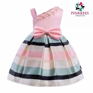 Light Pink Multicolor Stripe Dress