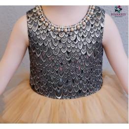 Oke Shimmering Jacquard Dress