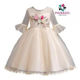 Elohor Embellished Mesh Dress -*Cream*