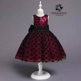 Oro Sequin Poka Dress - *Fuchsia-Black