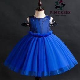 Ese Fancy Sleeve Dress - *Blue