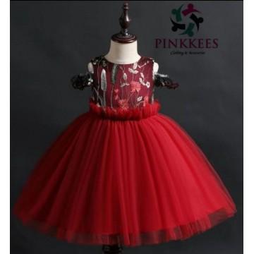 Ese Fancy Sleeve Dress -*Wine*