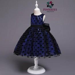 Oro Sequin Poka Dress - *Royal Blue-Black*