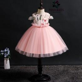 Ese Fancy Sleeve Dress - *Pink*