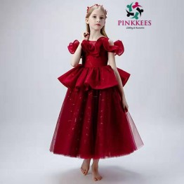 Princess Fome Cold Shoulders Party Dress - Red