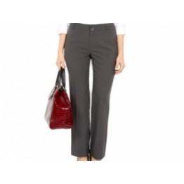 Grey Bi Stretch Bootcut Fit Trousers