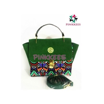 ZULU INSPIRED by PINKKEES - GREEN HANDBAG